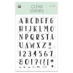 Clear stamp set  We are family 02, 51 pcs.