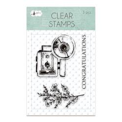 Clear stamp set Truly Yours 01, 3 pcs.