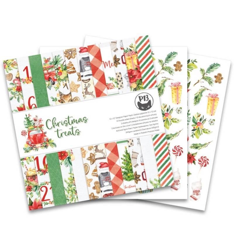 """Bloczek papierów Christmas treats, 12x12"""""""
