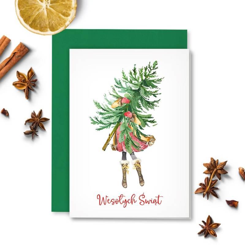 Karta z kopertą Christmas Treats 01, A6 PL