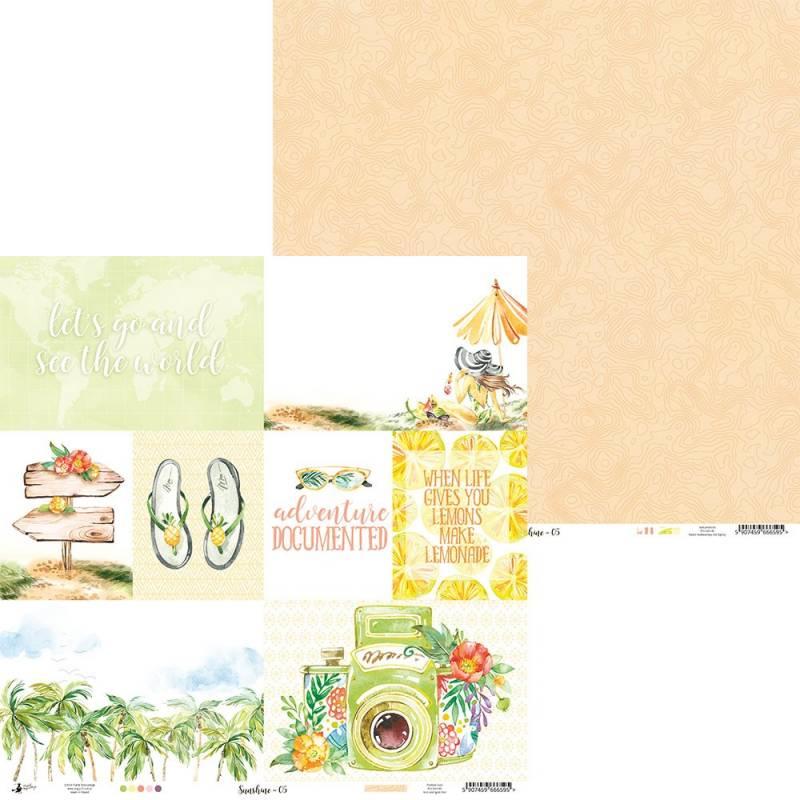 """Papier Sunshine 05, 12x12"""""""