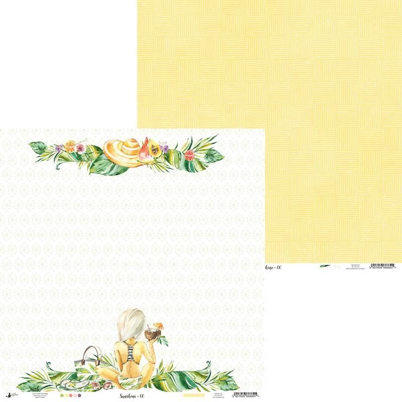 "Paper Sunshine 06, 12x12"""