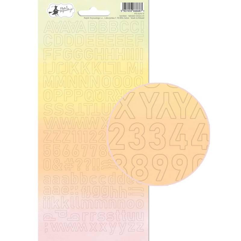 Alphabet sticker sheet Sunshine 01, 10,5 x 23cm