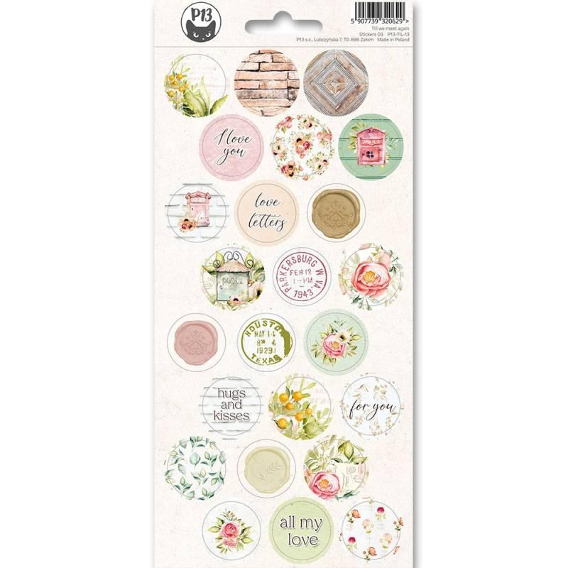 Sticker sheet Till we meet again 01, 10,5 x 23cm