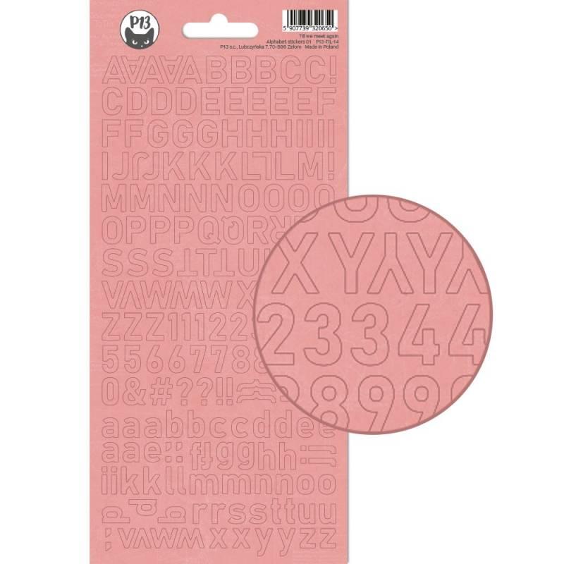 Alphabet sticker sheet Till we meet again 01, 10,5 x 23cm