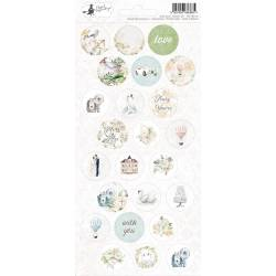 Sticker sheet Truly Yours 03, 10,5 x 23cm