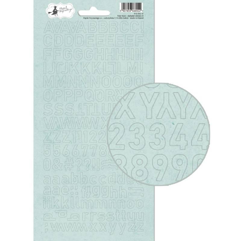 Alphabet sticker sheet Truly Yours 01, 10,5 x 23cm