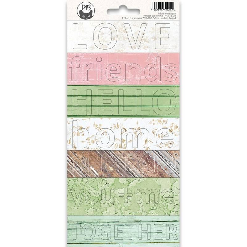 Phrase sticker sheet Till we meet again 02, 10,5 x 23cm