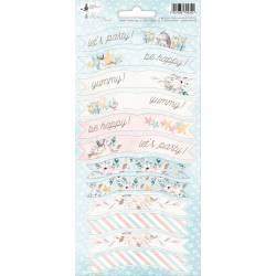 Arkusz party naklejek Cute & Co. 01, 10,5 x 23cm