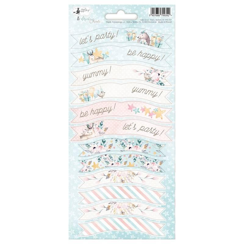 Party sticker sheet Cute & Co. 01, 10,5 x 23cm
