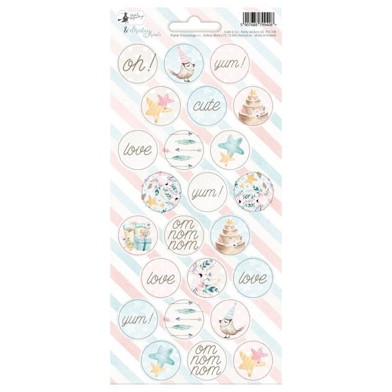 Party sticker sheet Cute & Co. 02, 10,5 x 23cm
