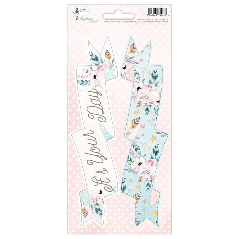 Party sticker sheet Cute & Co. 03, 10,5 x 23cm