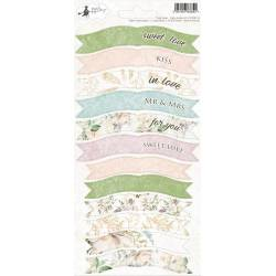 Party sticker sheet Truly Yours 01, 10,5 x 23cm