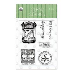 Clear stamp set Till we meet again 01, 6 pcs.