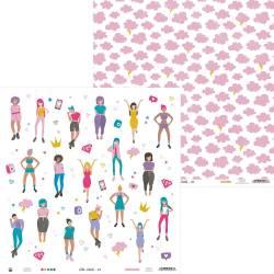 "Papier Girl Gang 01, 12x12"""