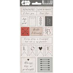 Sticker sheet Colors of Love 02, 10,5 x 23cm