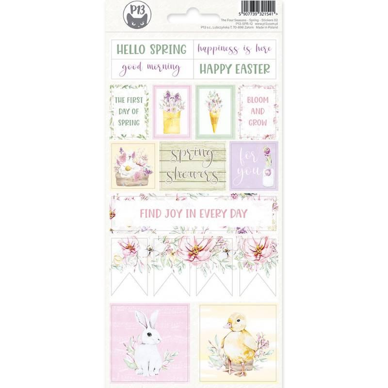 Sticker sheet The Fours Seasons - Spring 02, 10,5 x 23cm