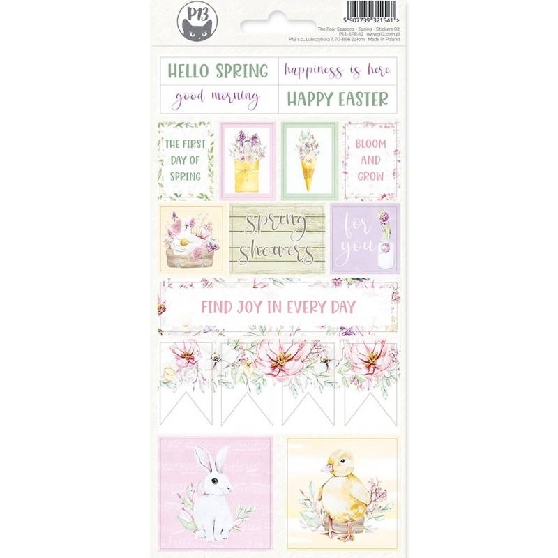 Sticker sheet The Fours Seasons - Spring 02, 10,5 x 23cm