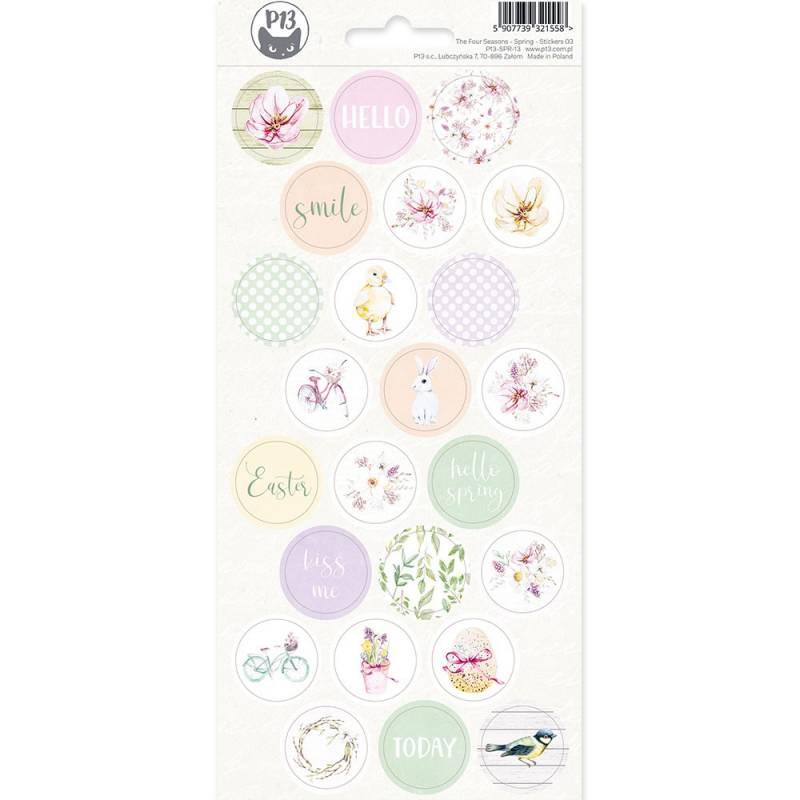 Sticker sheet The Four Seasons - Spring 03, 10,5 x 23cm
