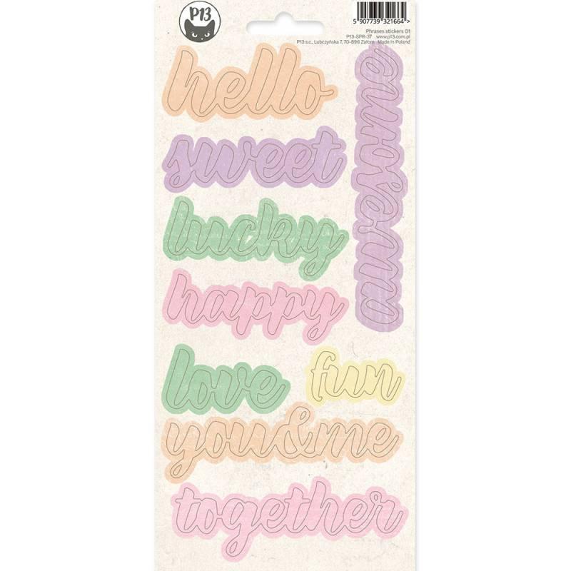 Phrase sticker sheet The Four Seasons - Spring 01, 10,5 x 23cm