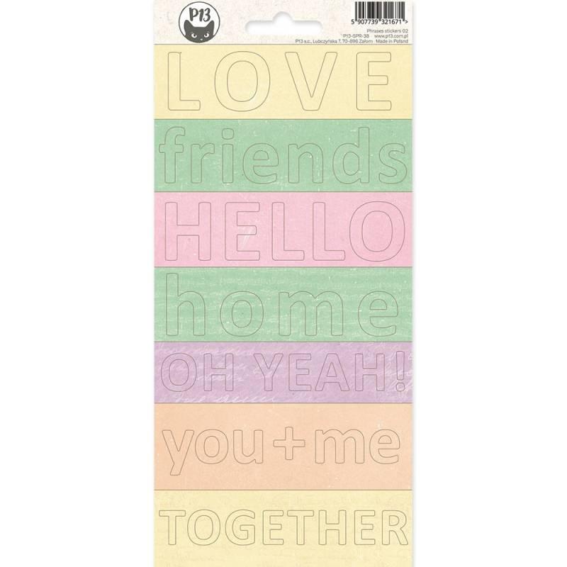 Phrase sticker sheet The Fours Seasons - Spring 02, 10,5 x 23cm